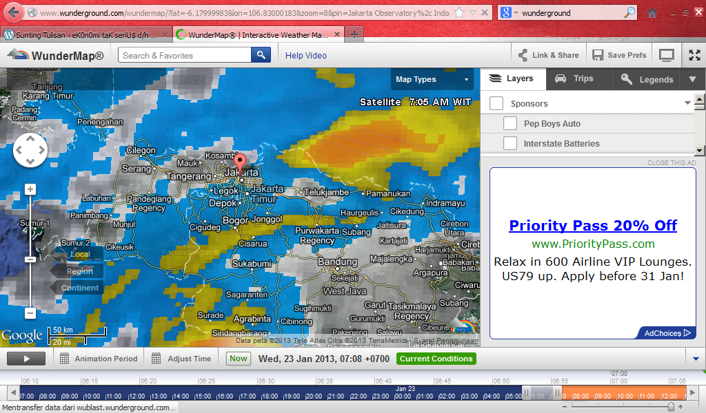 badai hujan jakarta 230113 radar