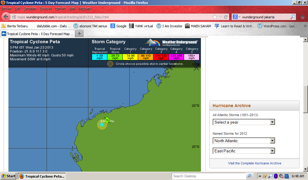 badai hujan jakarta 240113 badai peta